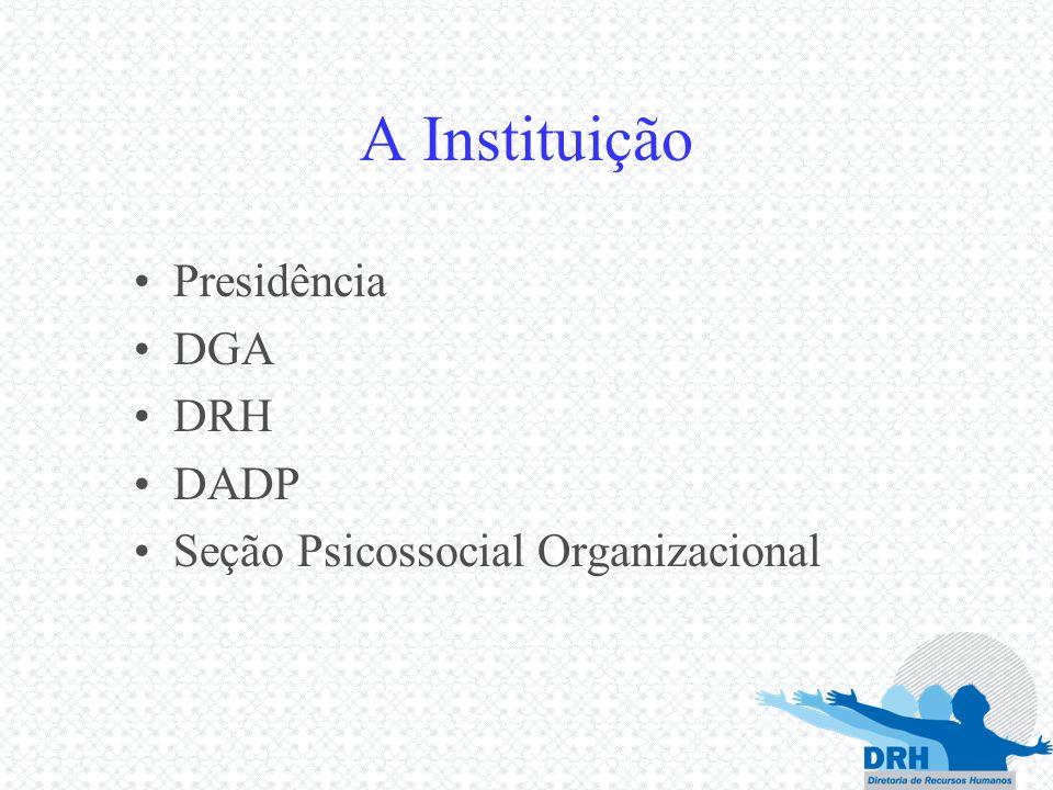 A Instituição Presidência DGA DRH DADP