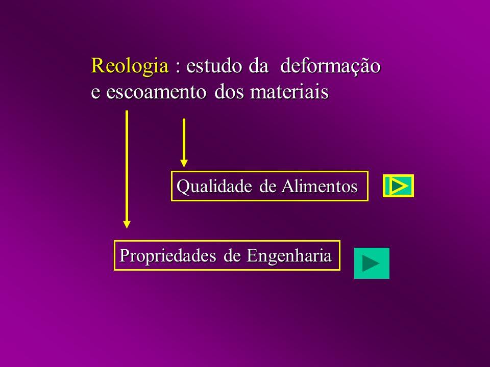 Reologia : estudo da deformação e escoamento dos materiais