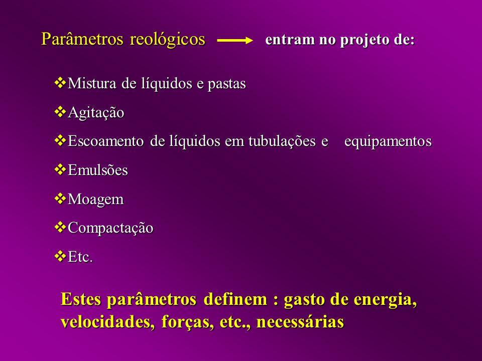 Parâmetros reológicos