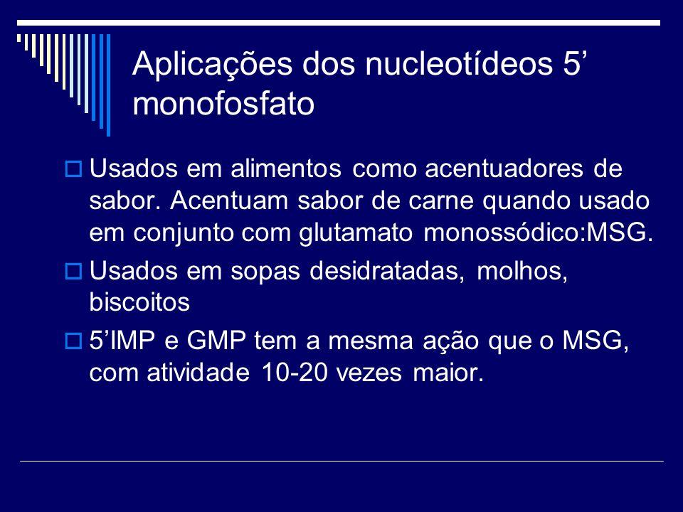 Aplicações dos nucleotídeos 5' monofosfato