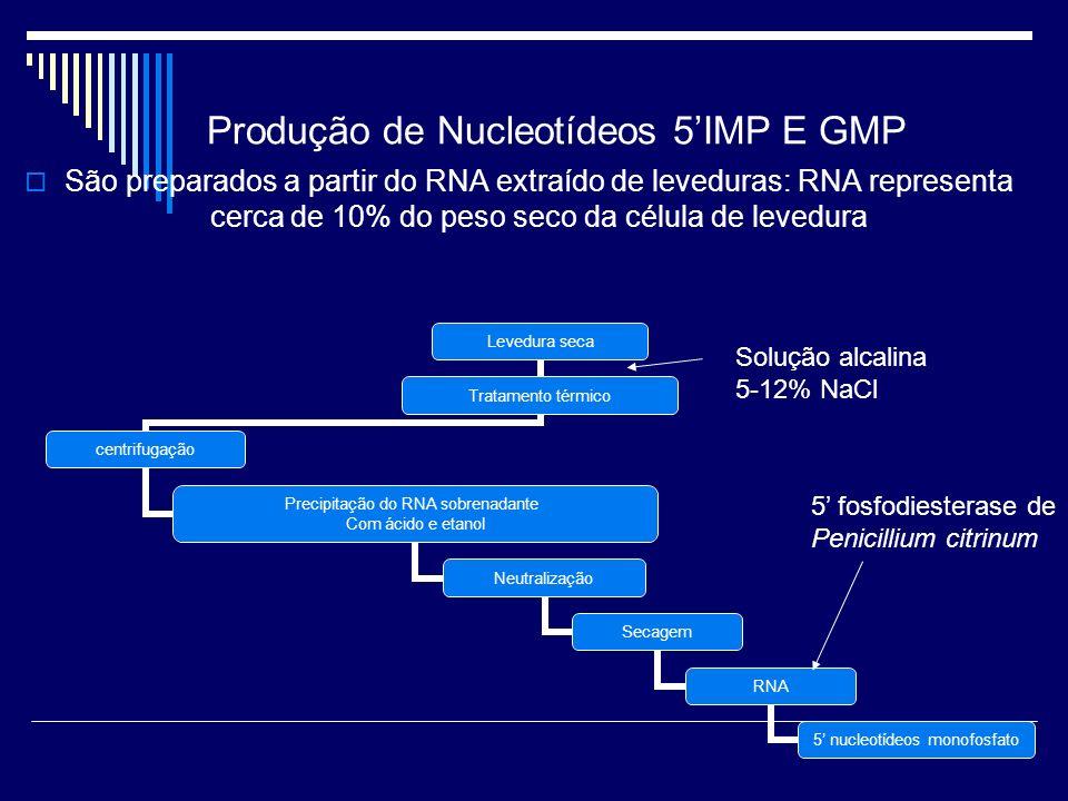 Produção de Nucleotídeos 5'IMP E GMP