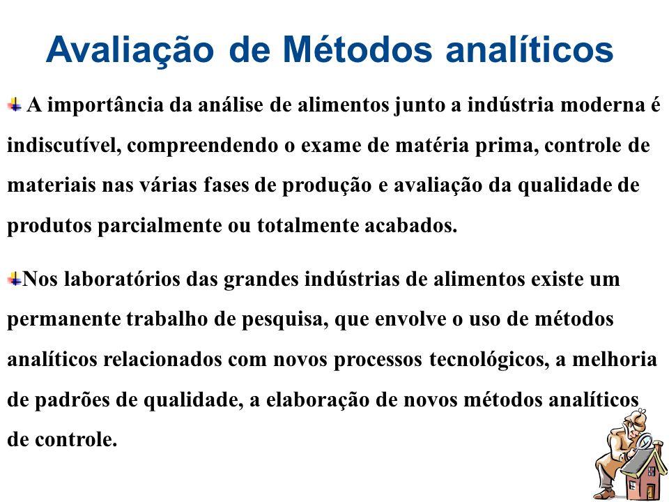 Avaliação de Métodos analíticos