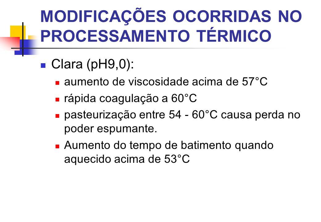 MODIFICAÇÕES OCORRIDAS NO PROCESSAMENTO TÉRMICO