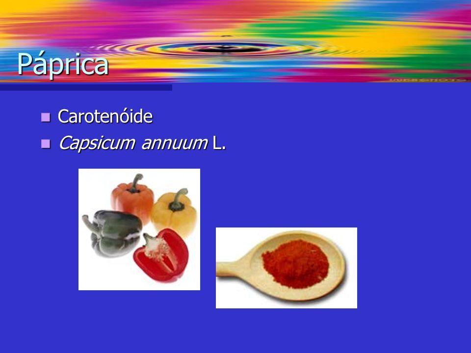 Páprica Carotenóide Capsicum annuum L.