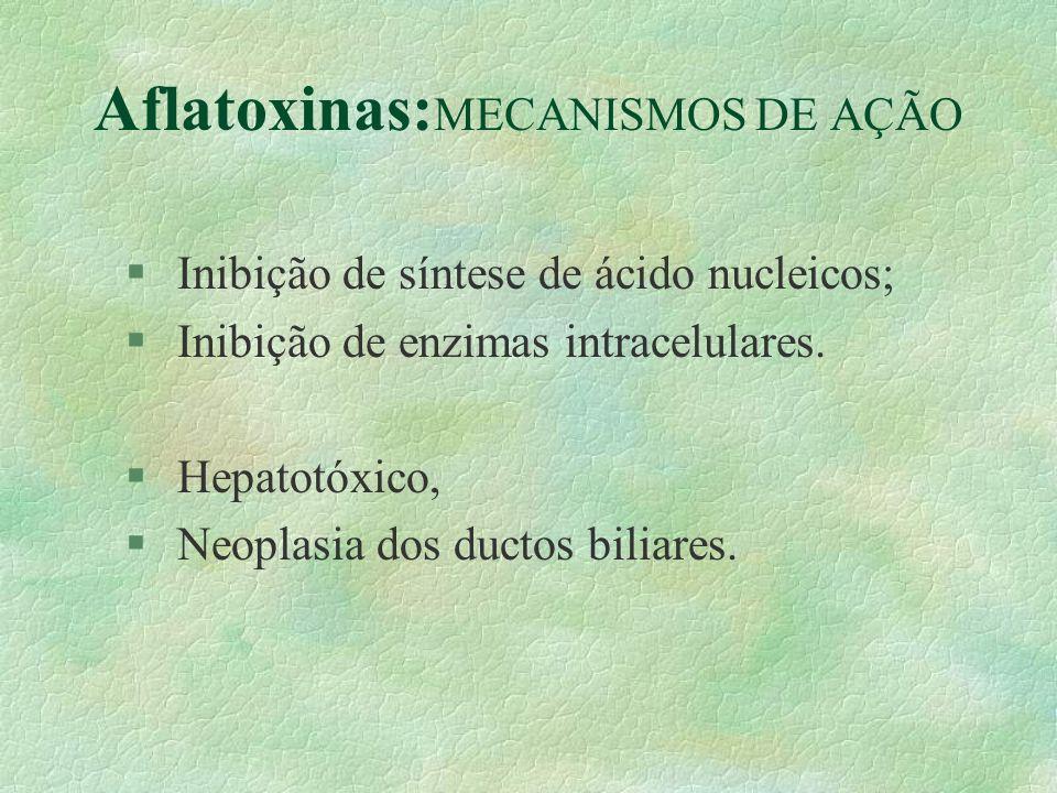 Aflatoxinas:MECANISMOS DE AÇÃO