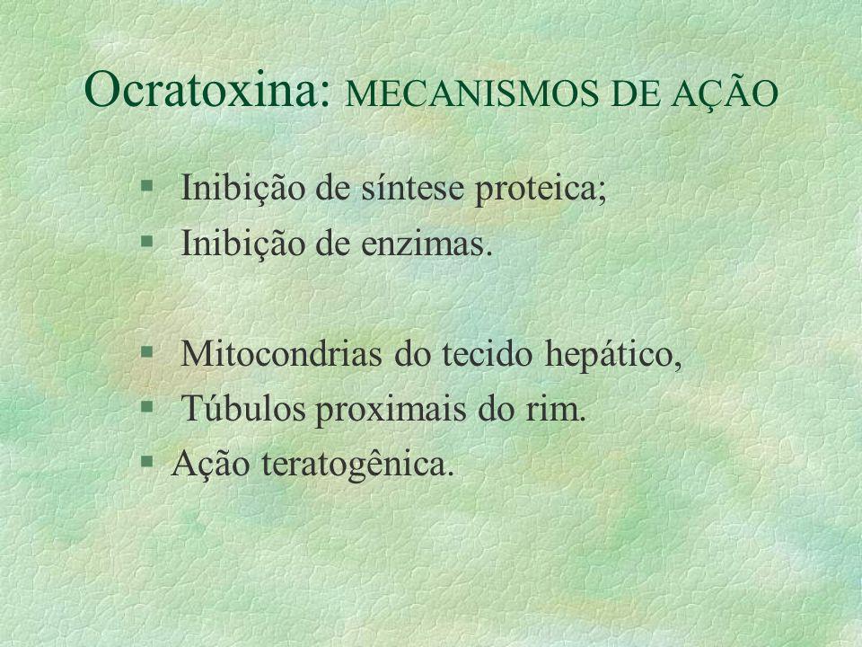 Ocratoxina: MECANISMOS DE AÇÃO