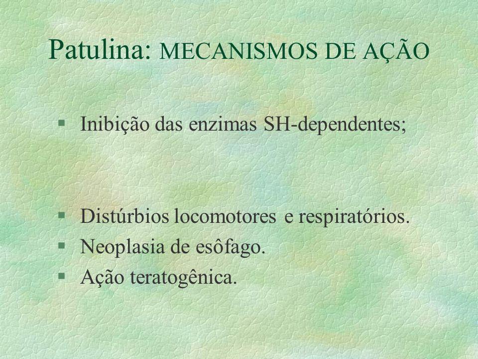 Patulina: MECANISMOS DE AÇÃO