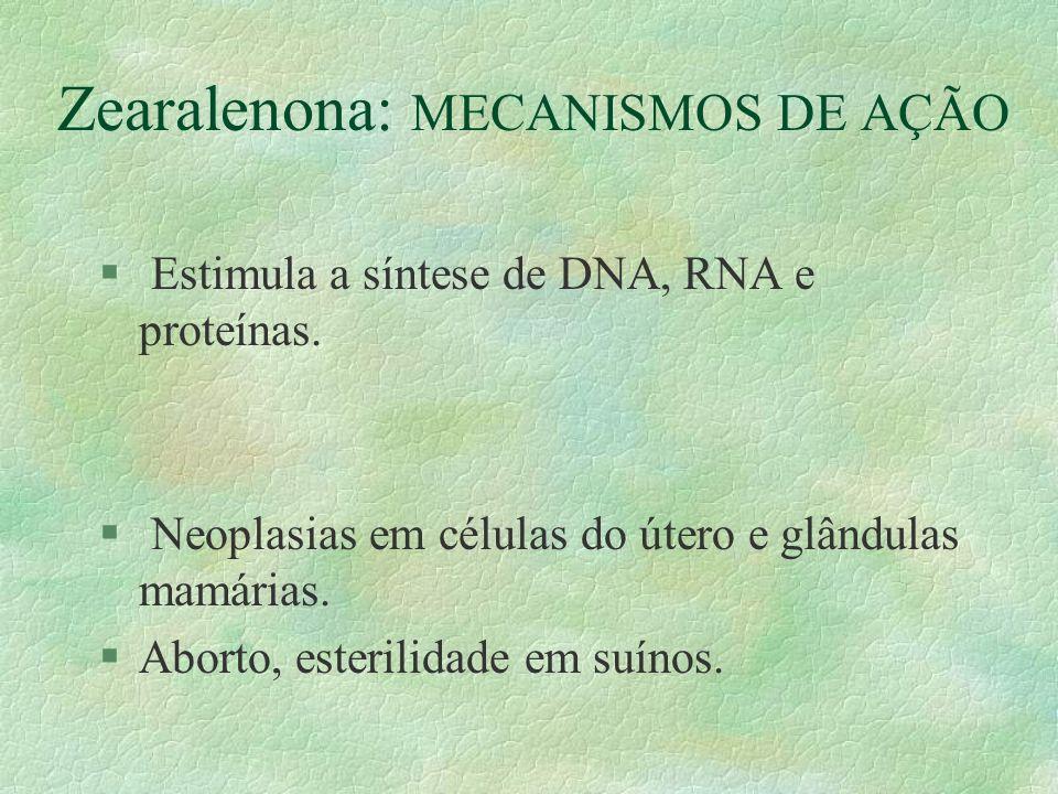 Zearalenona: MECANISMOS DE AÇÃO