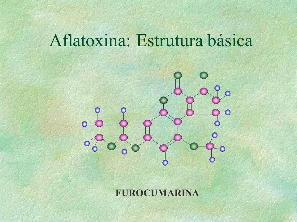 Aflatoxina: Estrutura básica