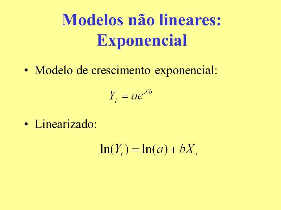 Modelos não lineares: Exponencial