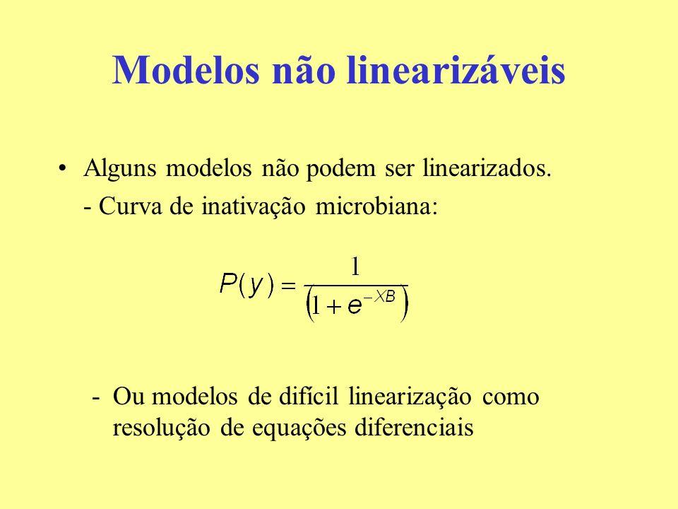 Modelos não linearizáveis