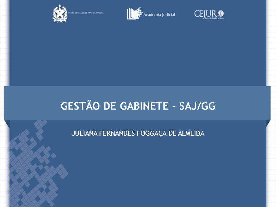 GESTÃO DE GABINETE - SAJ/GG