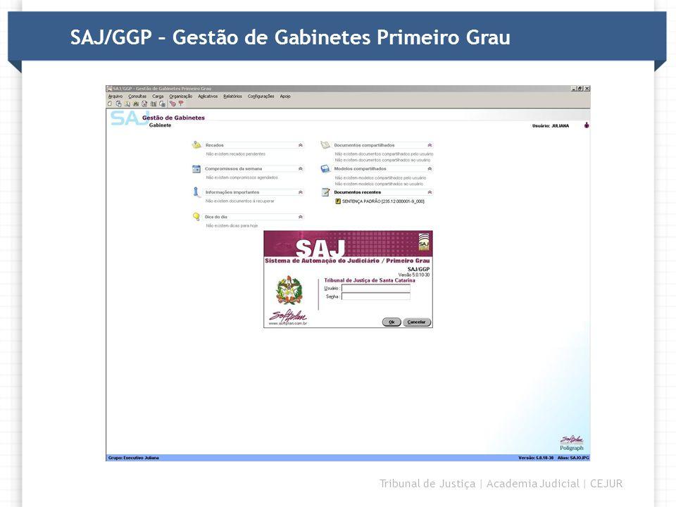SAJ/GGP – Gestão de Gabinetes Primeiro Grau