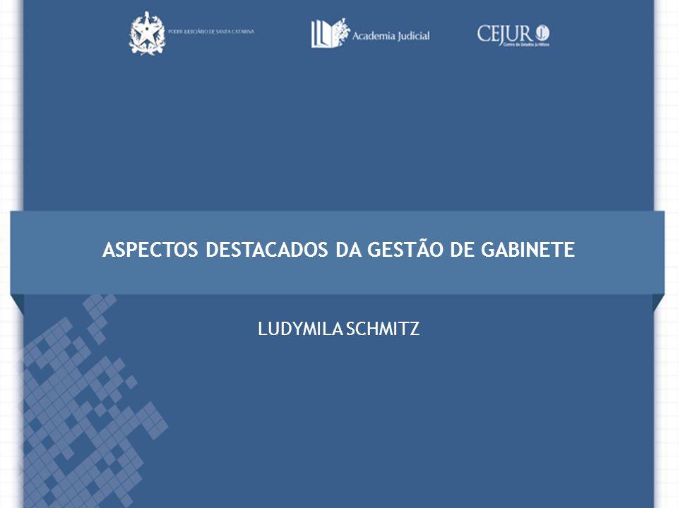 ASPECTOS DESTACADOS DA GESTÃO DE GABINETE