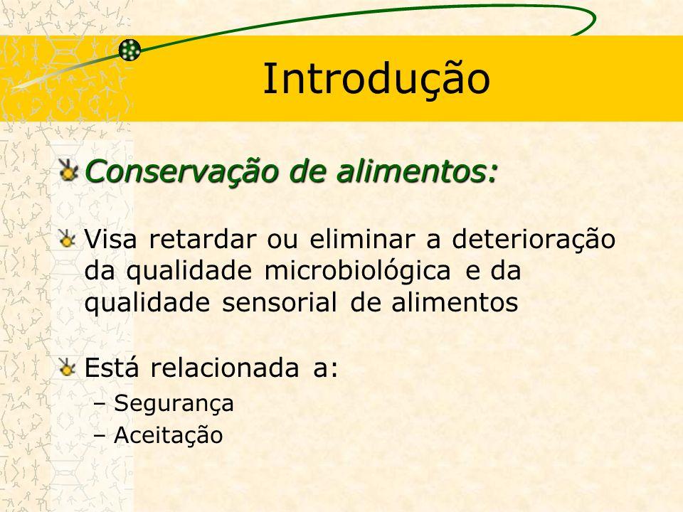 Introdução Conservação de alimentos: