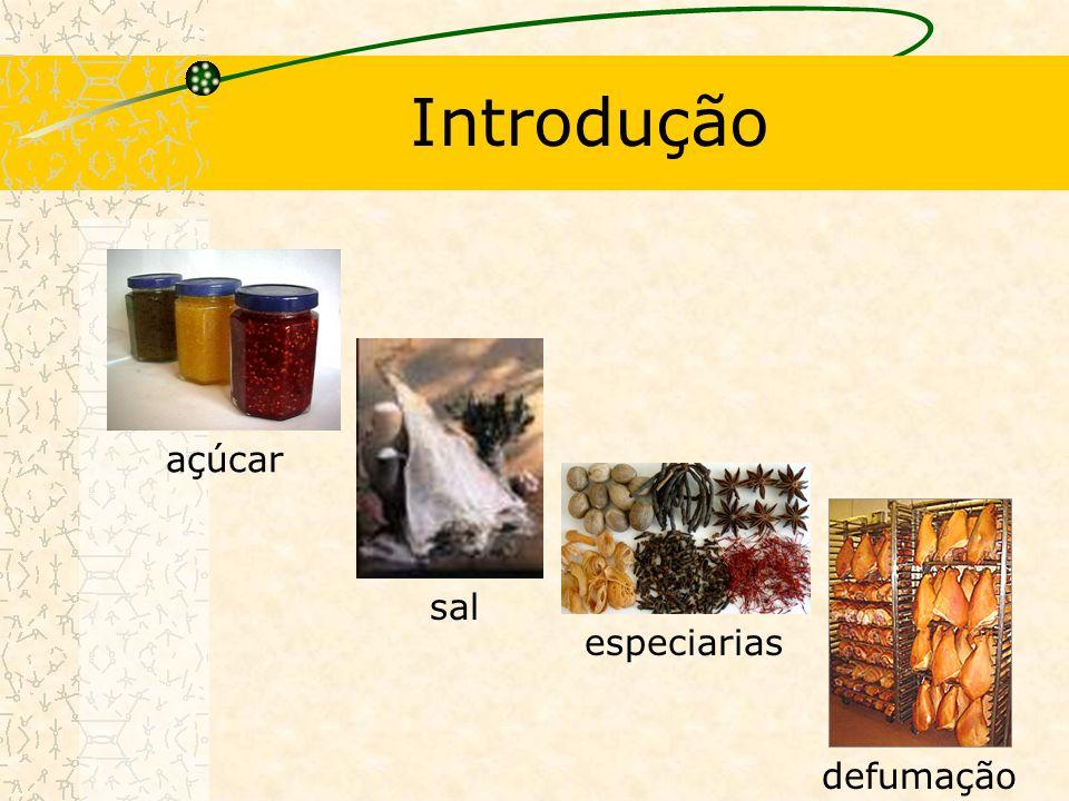 Introdução açúcar sal especiarias defumação