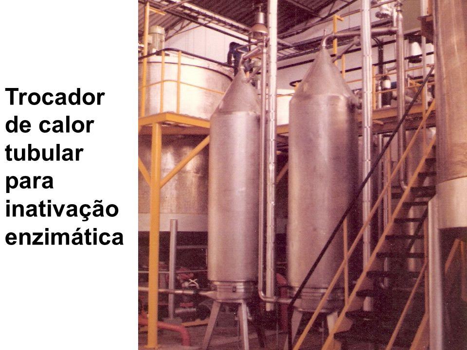 Trocador de calor tubular para inativação enzimática