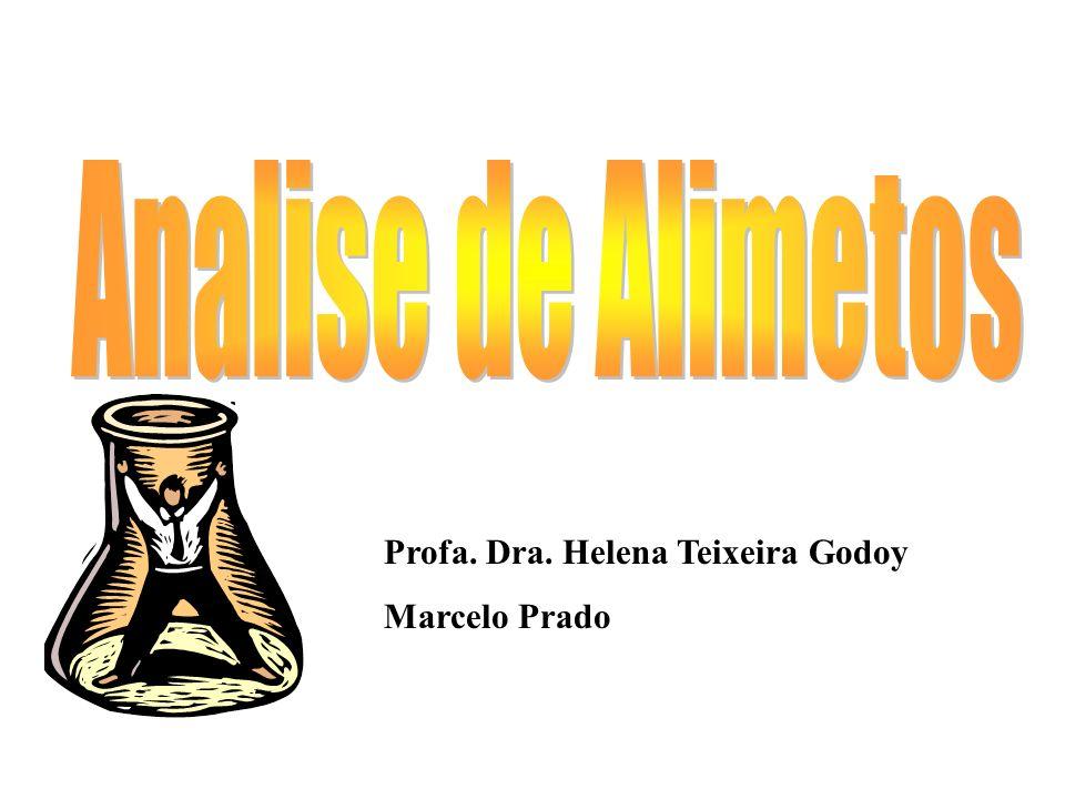 Analise de Alimetos Profa. Dra. Helena Teixeira Godoy Marcelo Prado