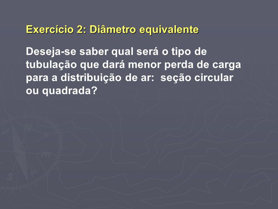 Exercício 2: Diâmetro equivalente