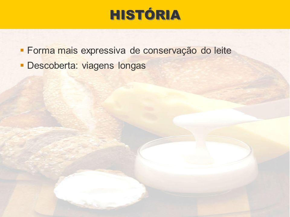 HISTÓRIA Forma mais expressiva de conservação do leite