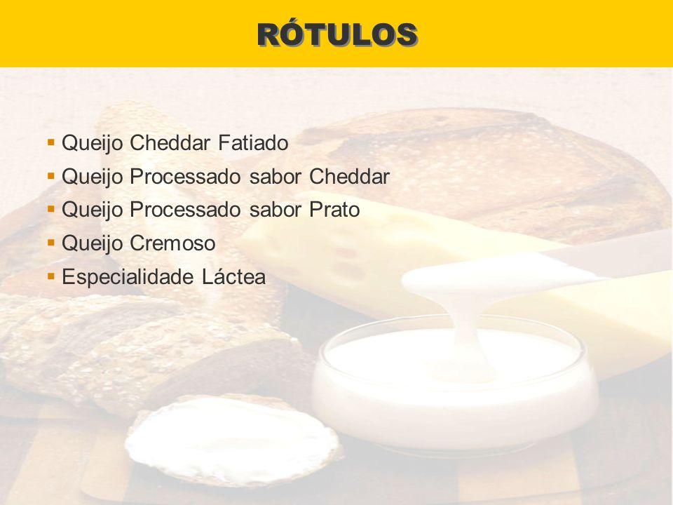 RÓTULOS Queijo Cheddar Fatiado Queijo Processado sabor Cheddar