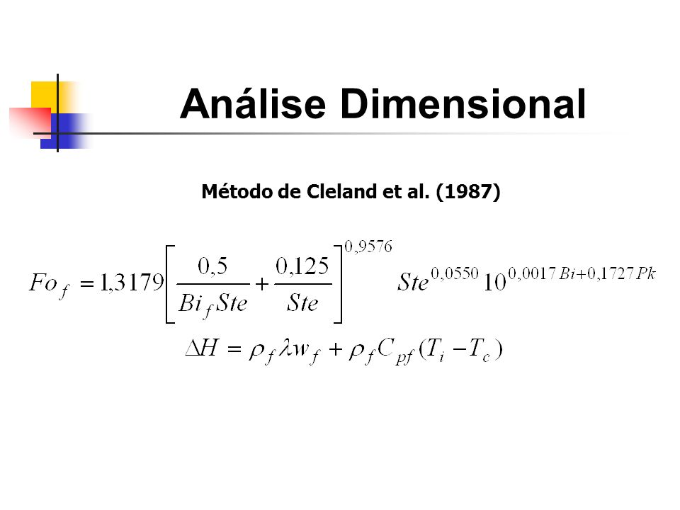 Método de Cleland et al. (1987)