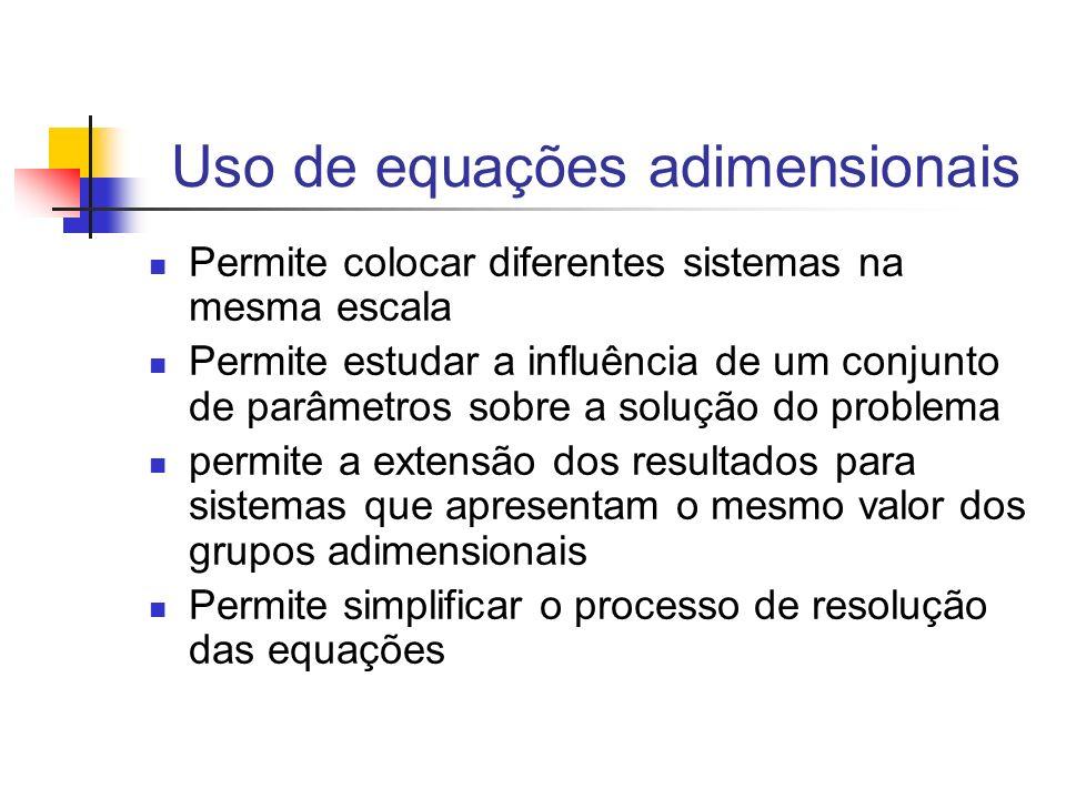 Uso de equações adimensionais