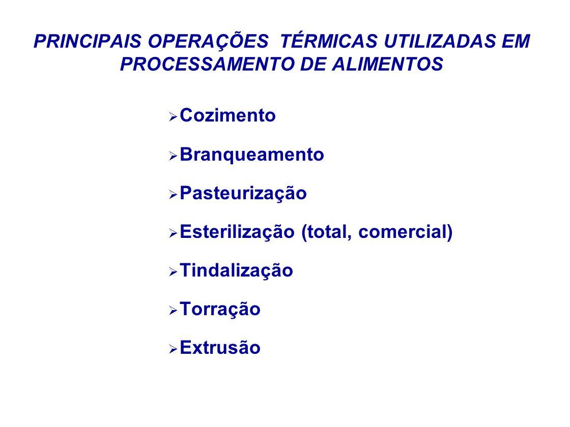 PRINCIPAIS OPERAÇÕES TÉRMICAS UTILIZADAS EM PROCESSAMENTO DE ALIMENTOS
