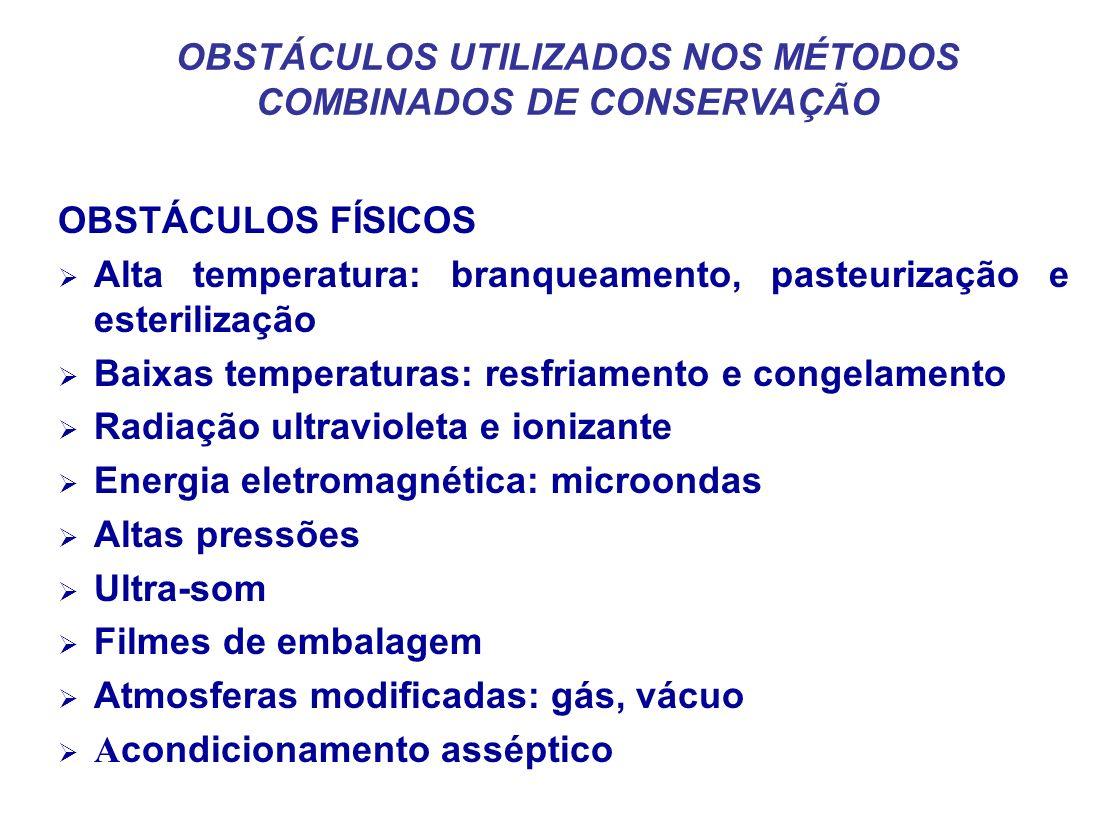 OBSTÁCULOS UTILIZADOS NOS MÉTODOS COMBINADOS DE CONSERVAÇÃO