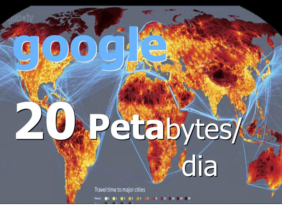 google 20 Petabytes/ dia