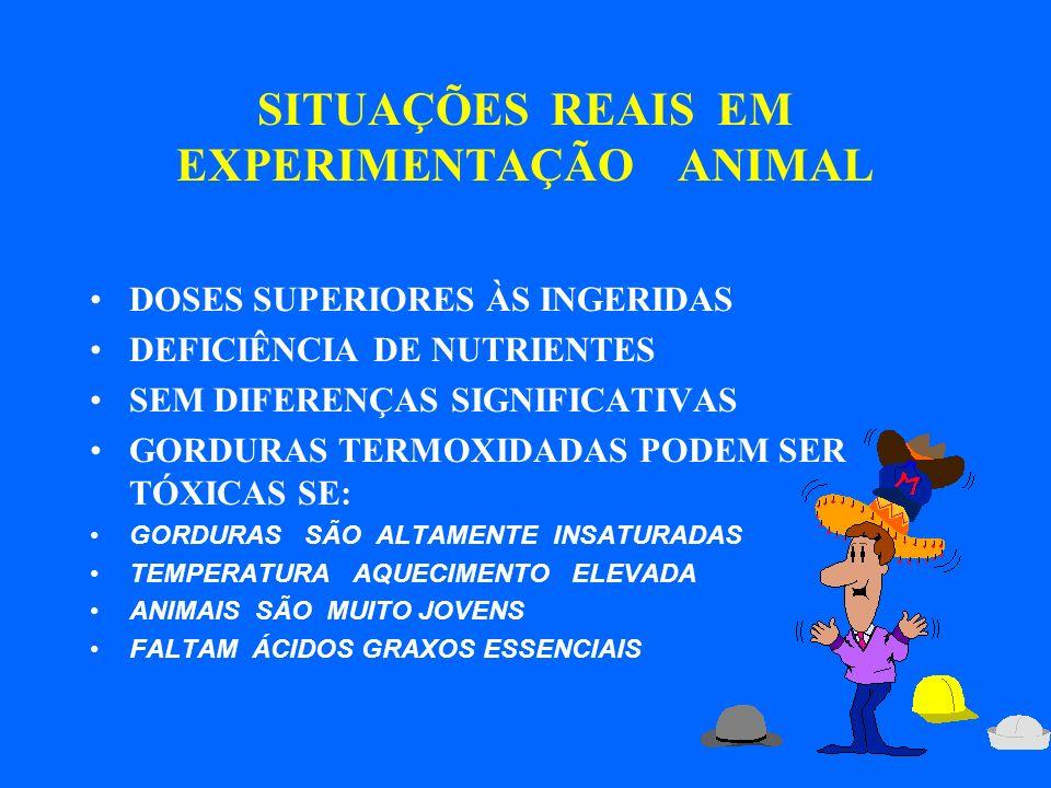 SITUAÇÕES REAIS EM EXPERIMENTAÇÃO ANIMAL
