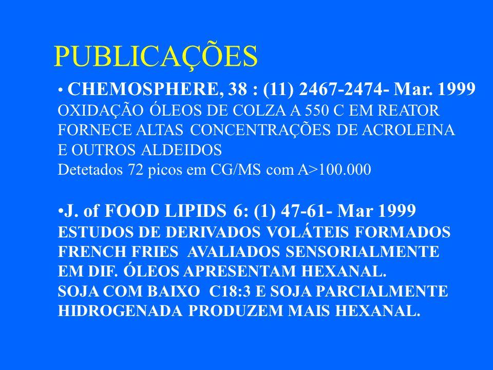 PUBLICAÇÕES J. of FOOD LIPIDS 6: (1) 47-61- Mar 1999