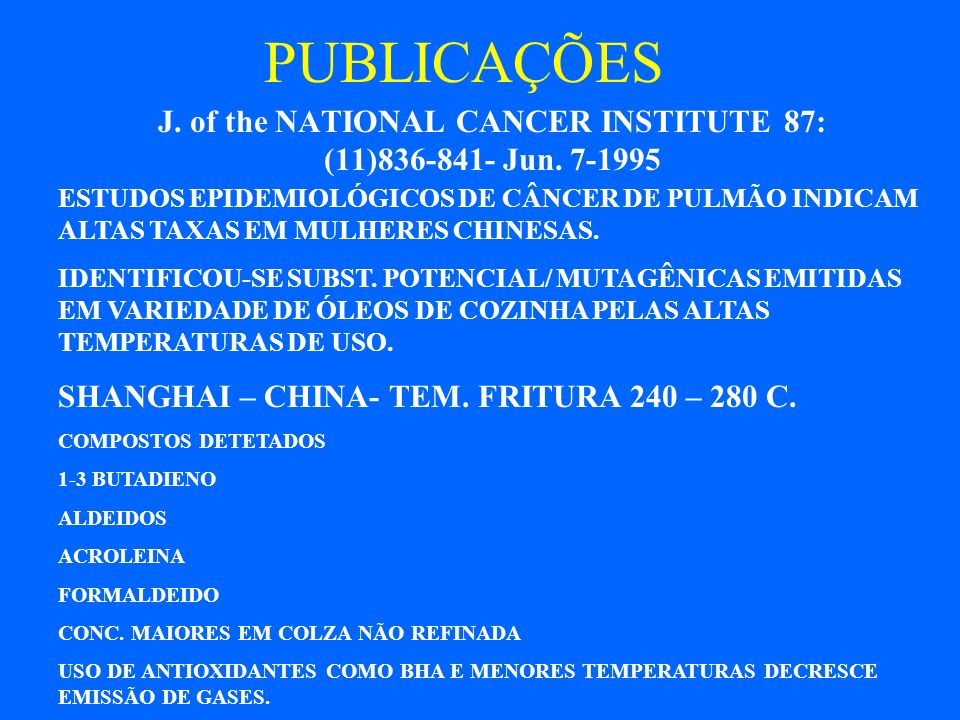 J. of the NATIONAL CANCER INSTITUTE 87: (11)836-841- Jun. 7-1995
