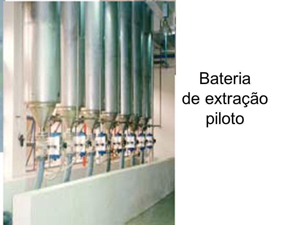 Bateria de extração piloto