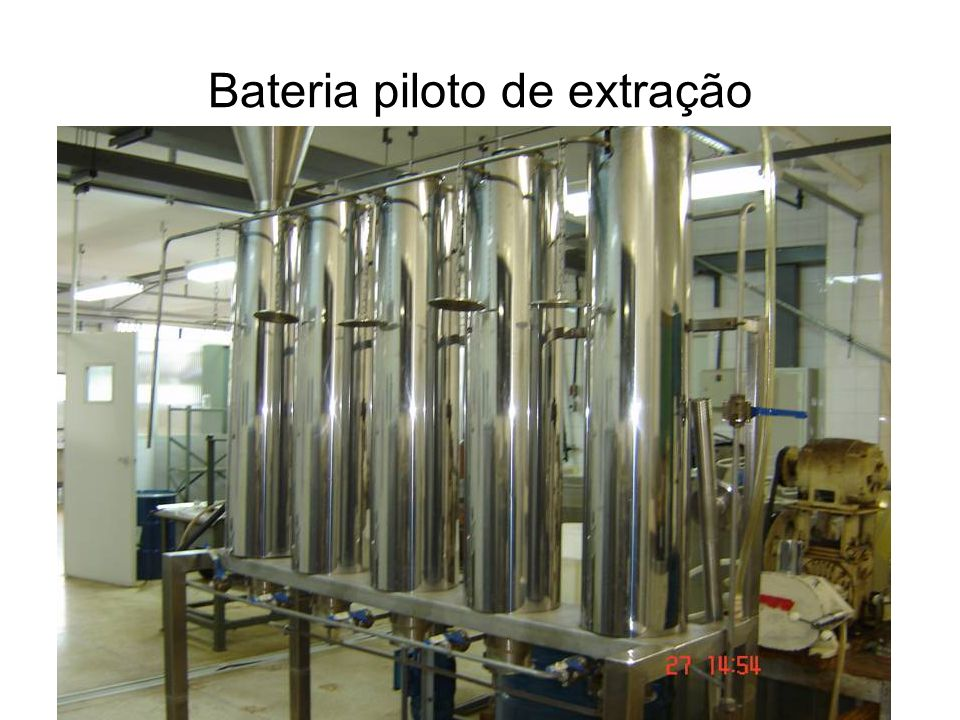 Bateria piloto de extração