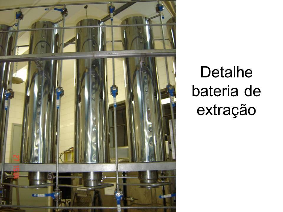 Detalhe bateria de extração