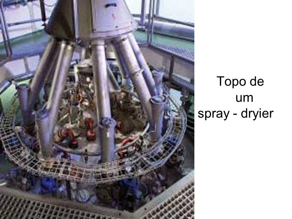 Topo de um spray - dryier
