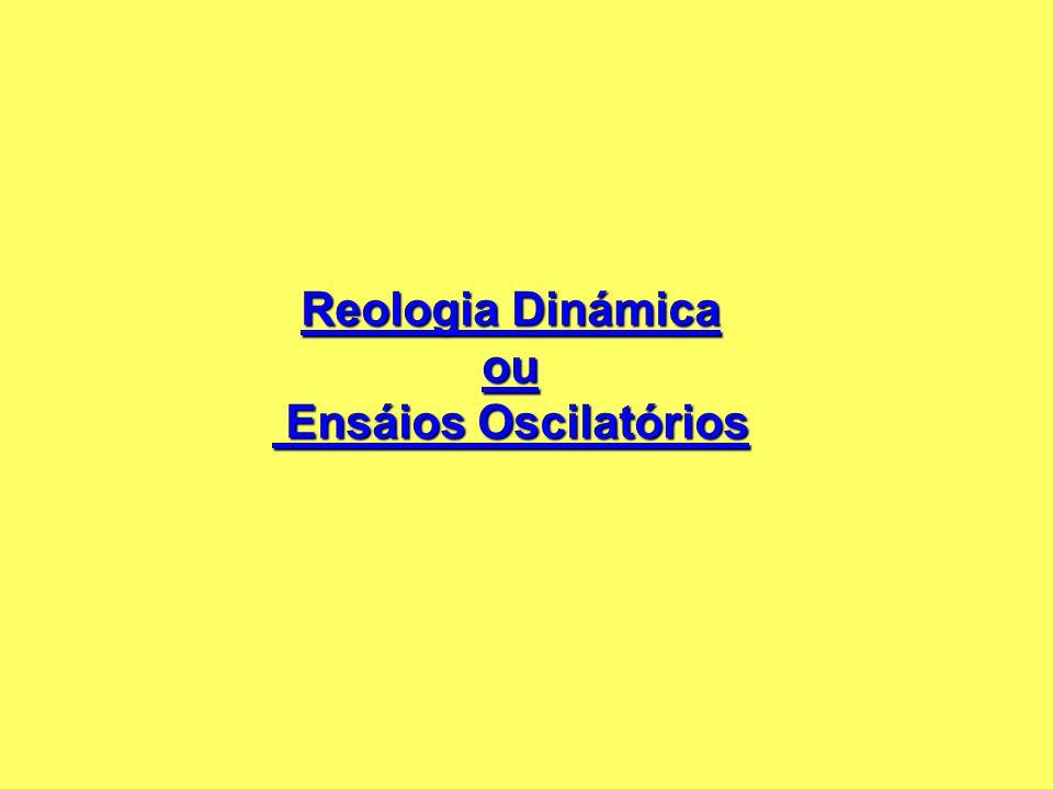 Reologia Dinámica ou Ensáios Oscilatórios