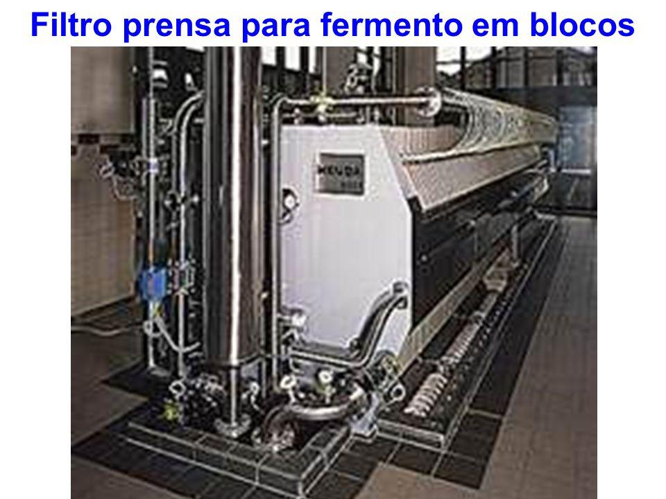 Filtro prensa para fermento em blocos