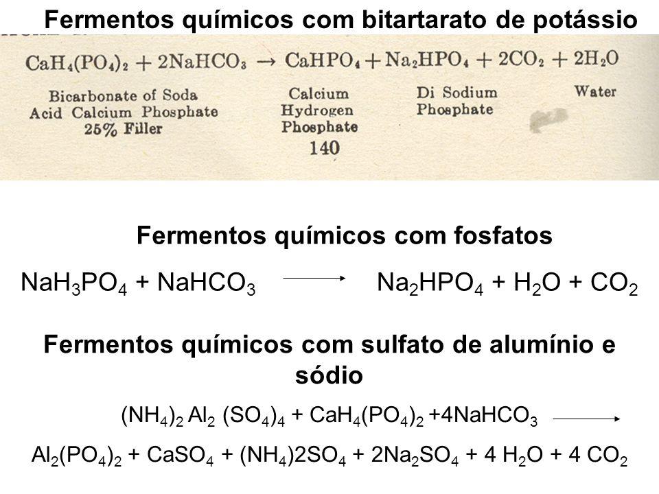 Fermentos químicos com bitartarato de potássio