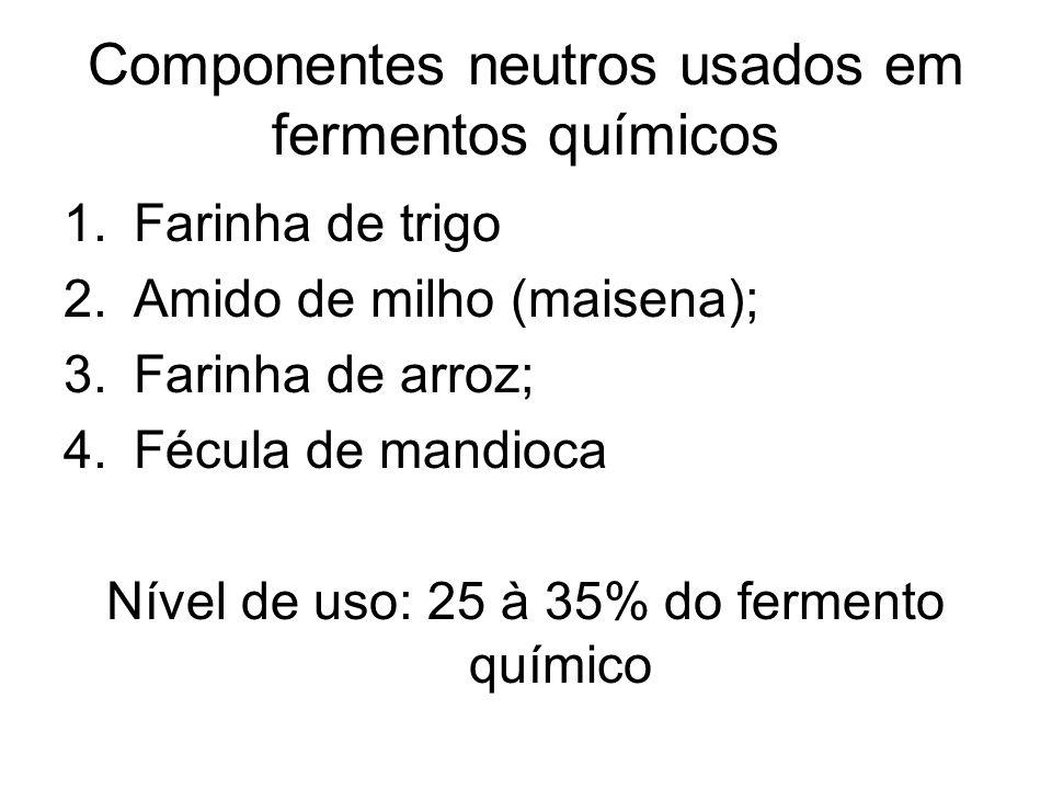 Componentes neutros usados em fermentos químicos