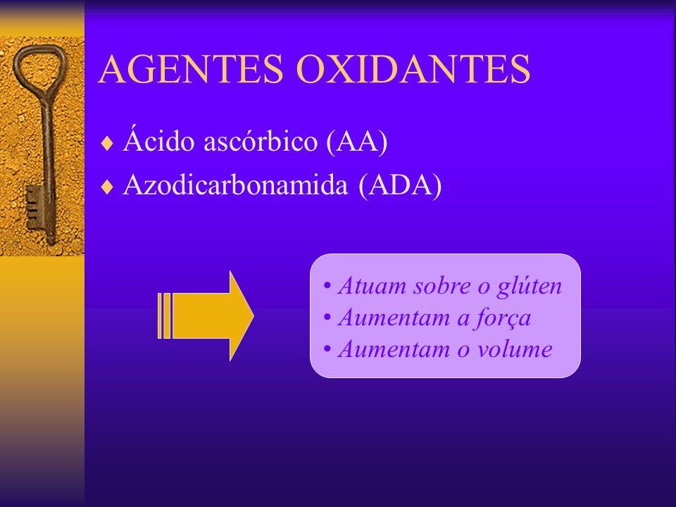 AGENTES OXIDANTES Ácido ascórbico (AA) Azodicarbonamida (ADA)