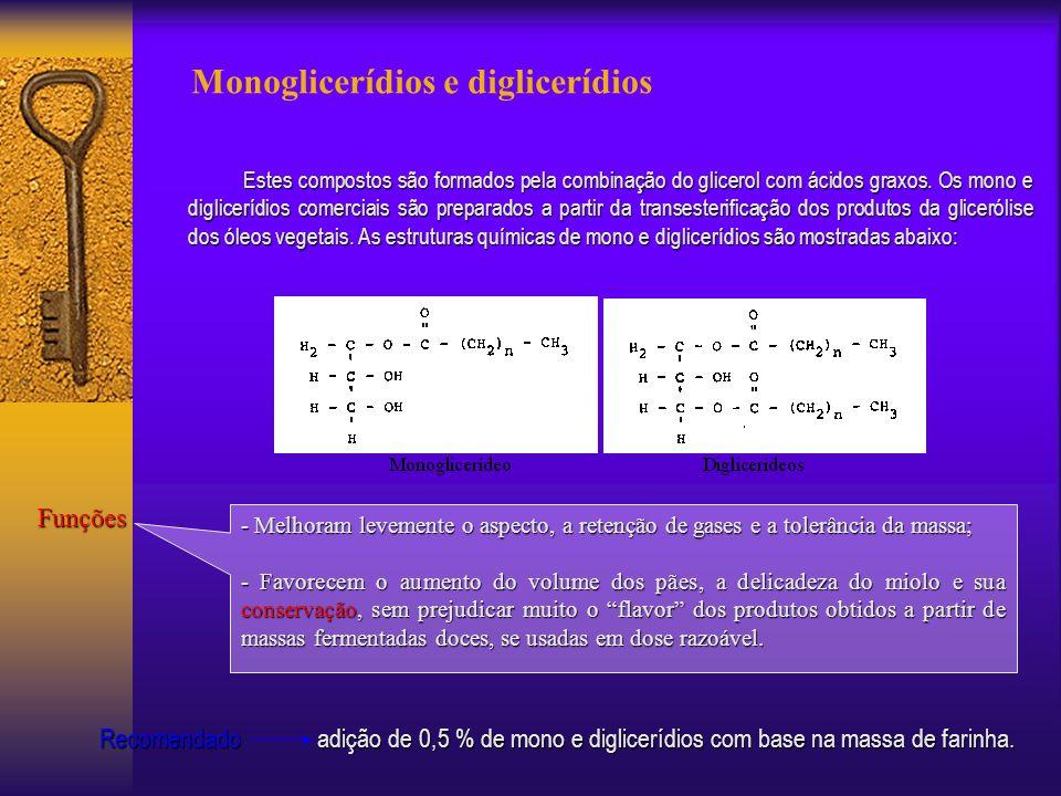 Monoglicerídios e diglicerídios