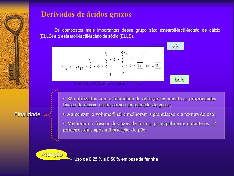 Uso de 0,25 % a 0,50 % em base de farinha
