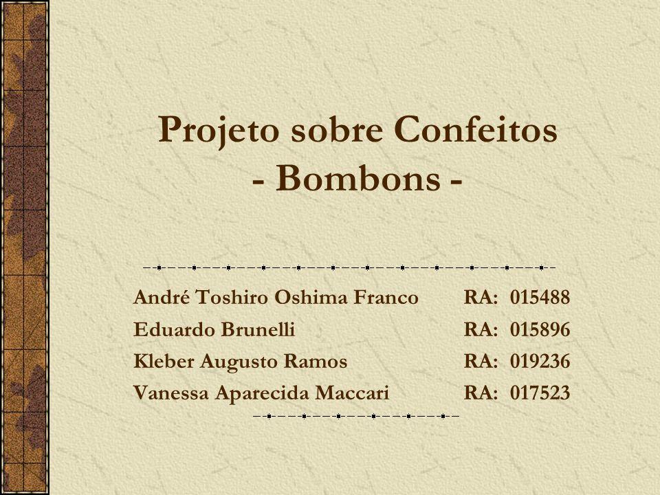 Projeto sobre Confeitos - Bombons -