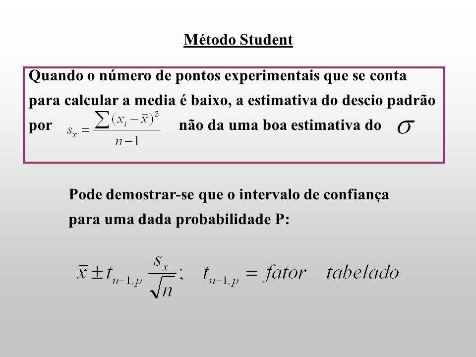 Método Student