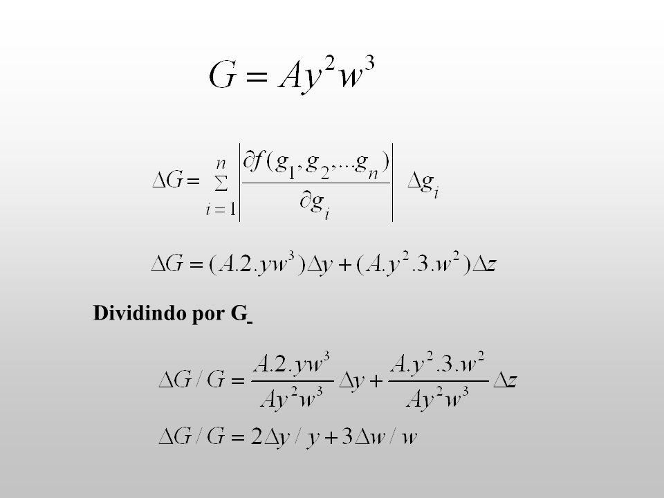 Dividindo por G