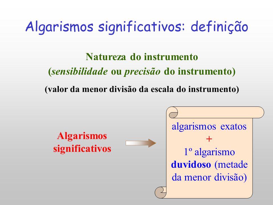 Algarismos significativos: definição