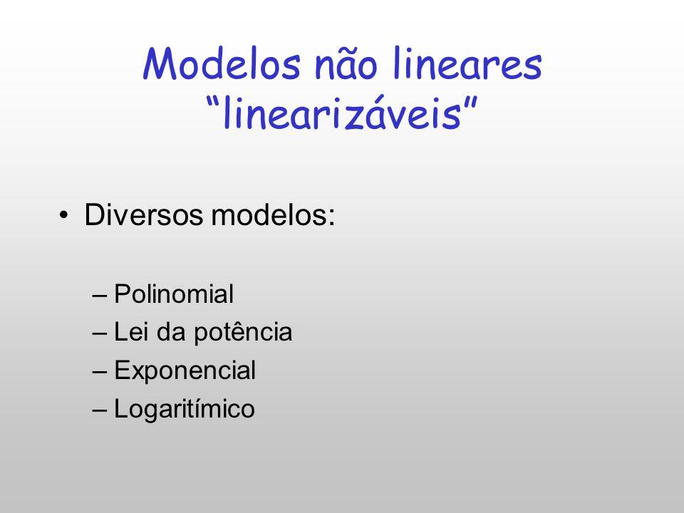 Modelos não lineares linearizáveis