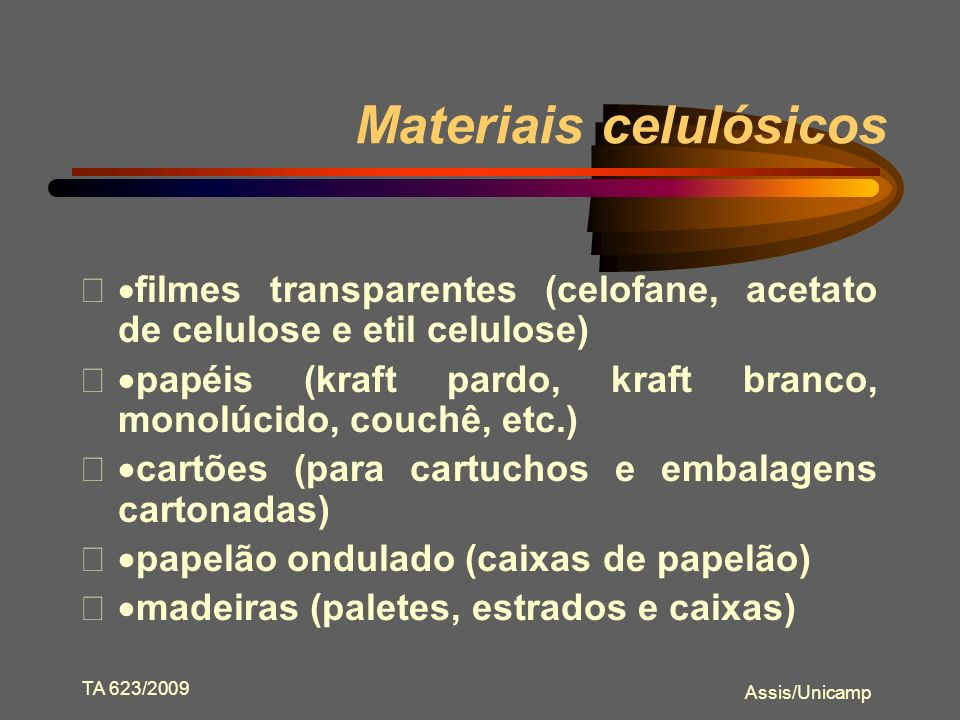 Materiais celulósicos